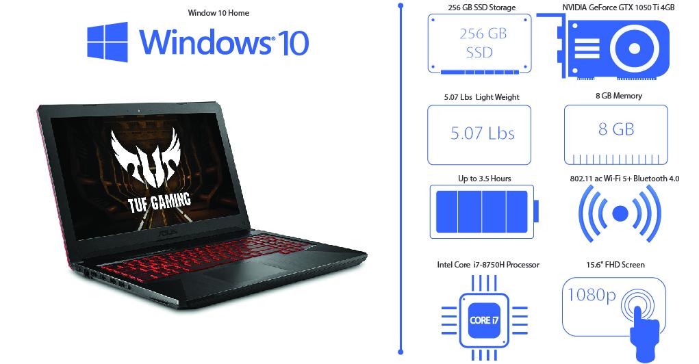 Asus FX504 TUF Gaming Laptop